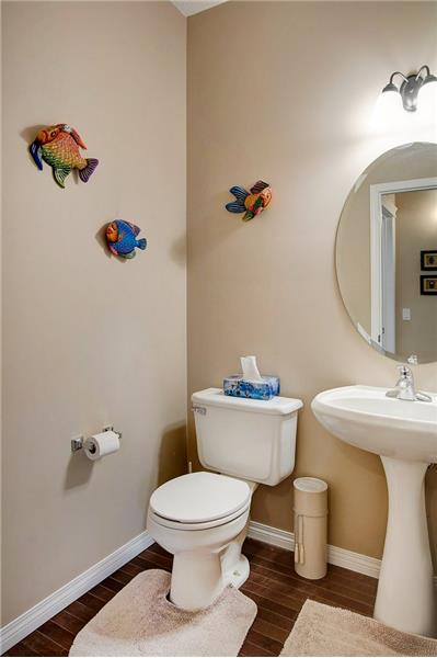 2 Piece Powder Room  with privacy from main living areas