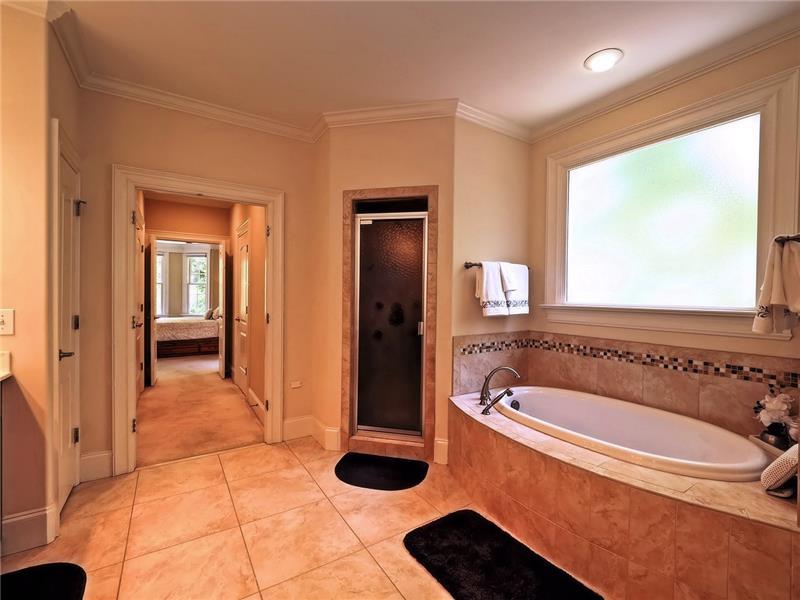 and soaking tub