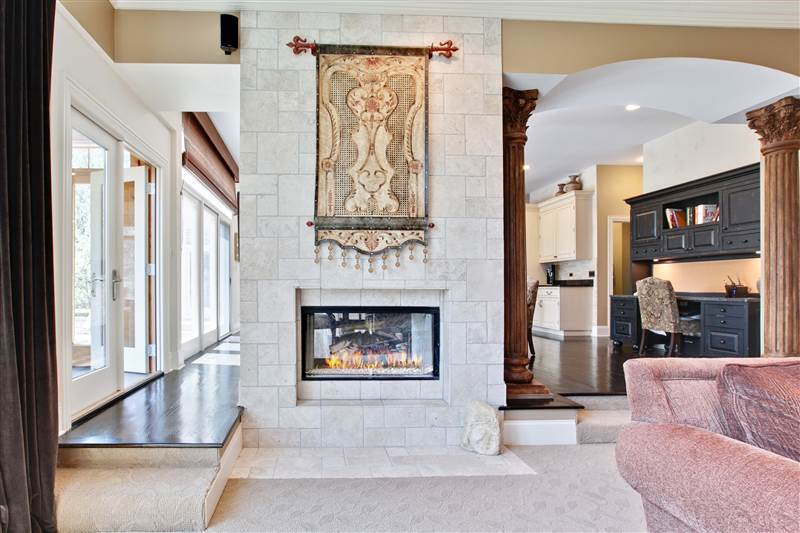 Two-Sided Fireplace