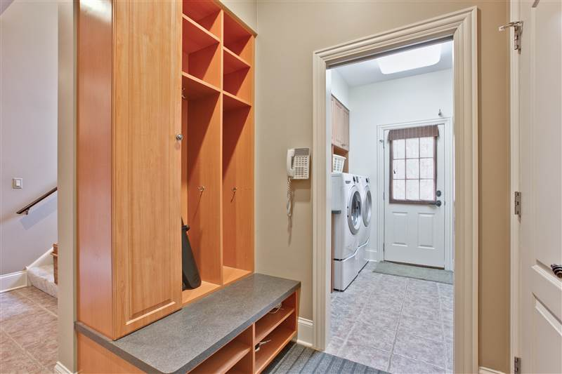 Mudroom Cubbies and Laundry Room
