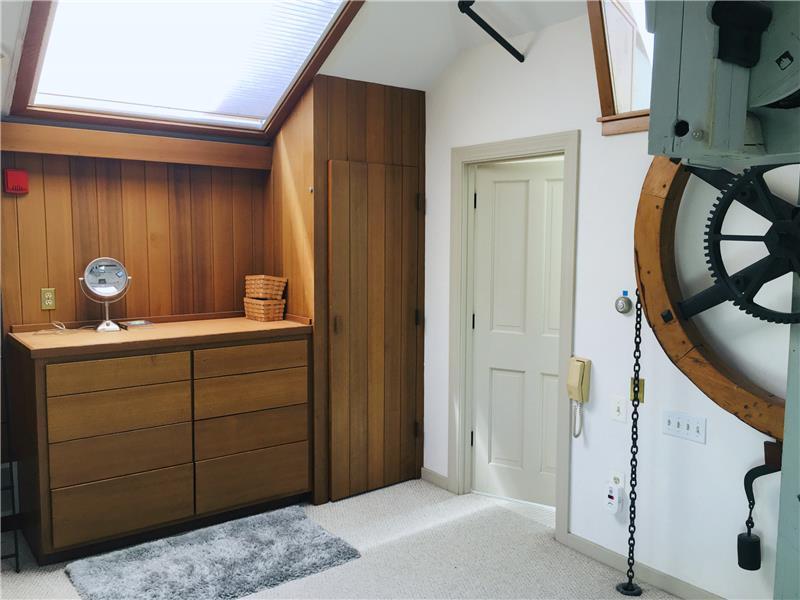Built in dresser and closet in master bedroom