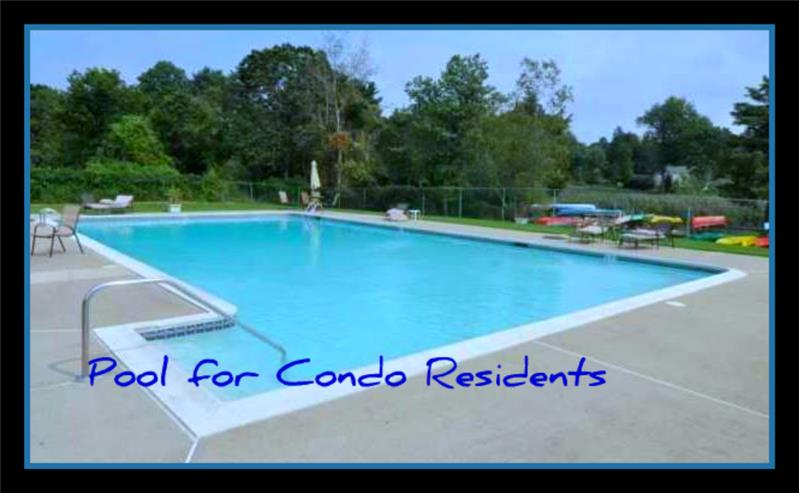 Pool for condo residents next to Kayak launch area all included in monthly fee