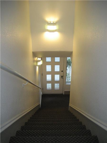 Stairs Down to Exterior Entrance Door