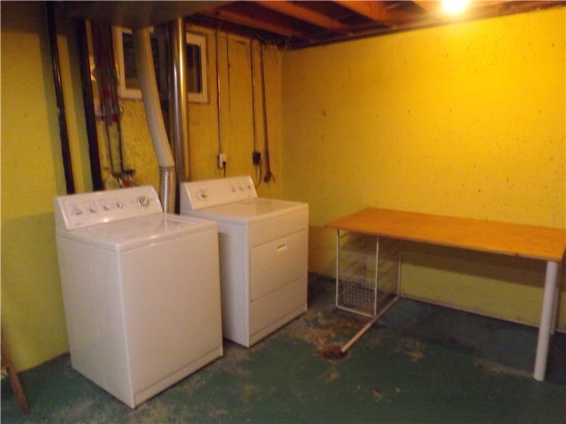 Laundry in basement