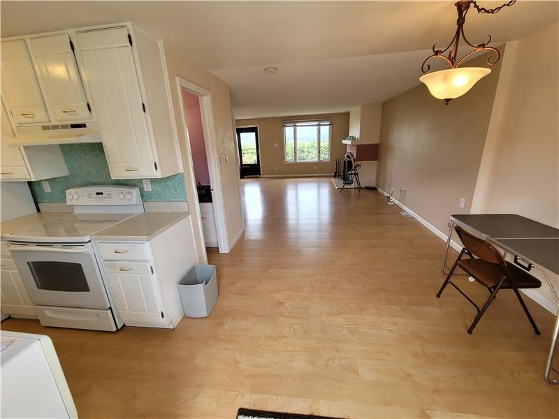 Open floor plan! View from door to patio