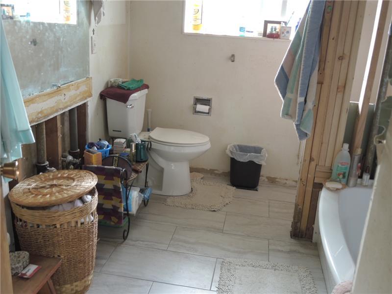 unfinished bathroom