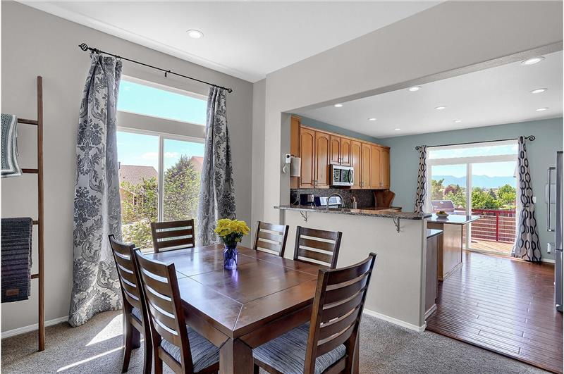 The Dining Area is located off the Kitchen