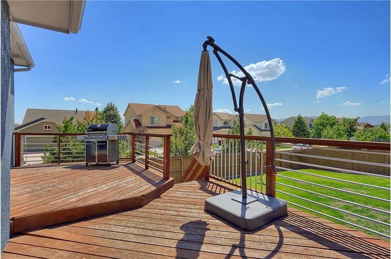 Expanded deck and fenced lot