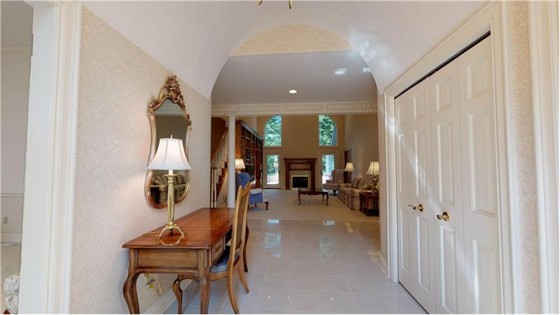Elegance abounds in this front entryway!