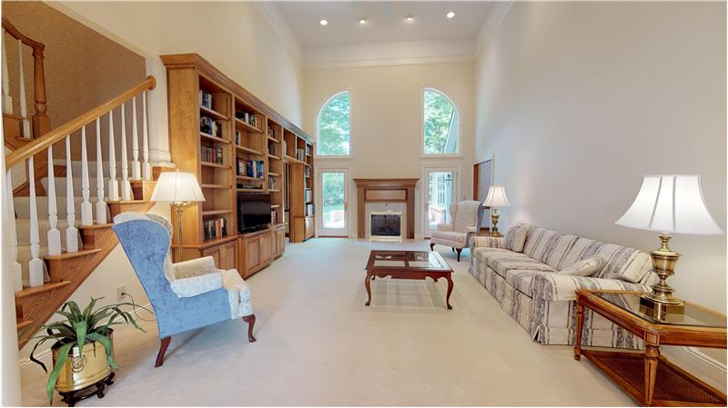 The view of the two story great room from the entryway!