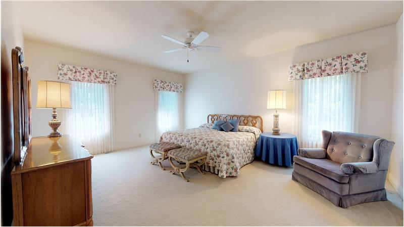 Convenient and spacious first floor master bedroom, with 2 walk in closets!