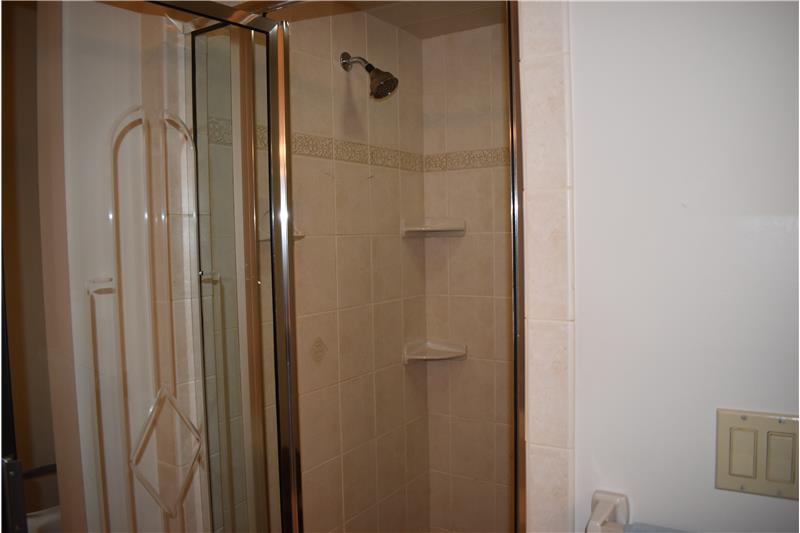 Tiled shower!