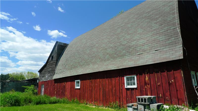 Backside of barn