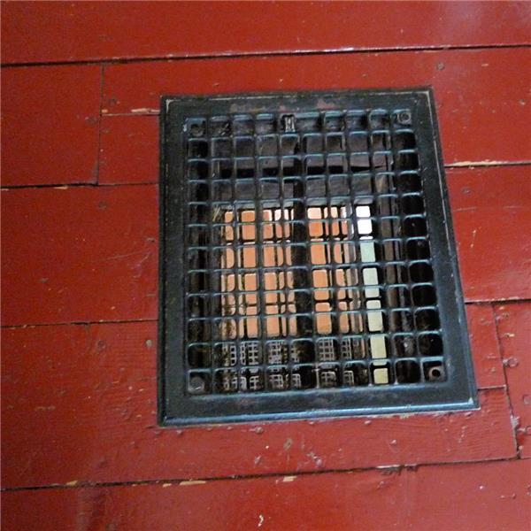 Antique heating grate