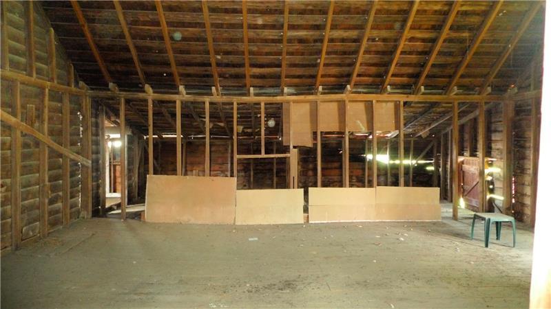 Framed  second floor of the barn