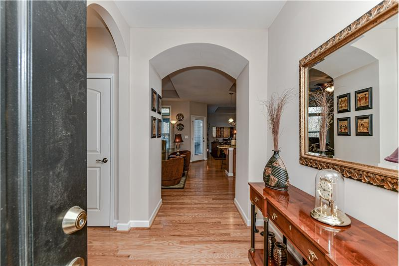 Gracious foyer provides a welcoming introduction to the home.