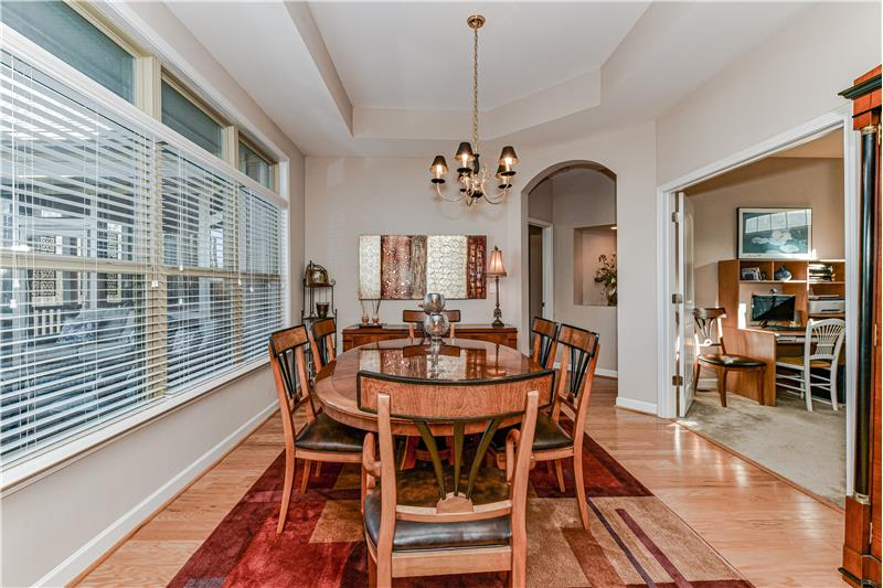 Dining room perfect for both casual and more formal entertaining. Room for a china cabinet or sideboard.