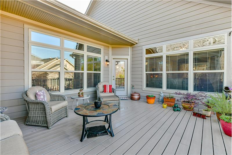 Deck is a natural extension of the home's living and entertaining areas.
