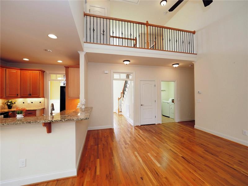 upstairs walkway