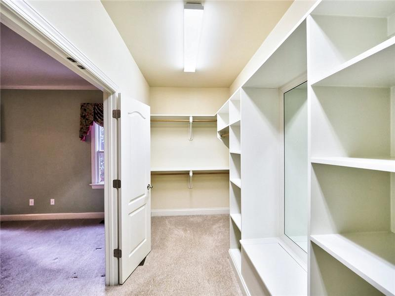 One side of Master closet