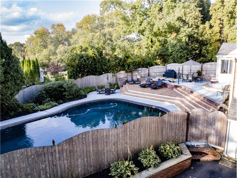 528 General Scott Road Pool with plenty of space for entertaining