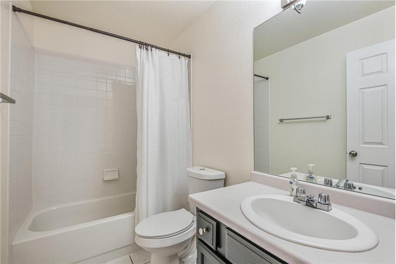 Guest bathroom upstairs