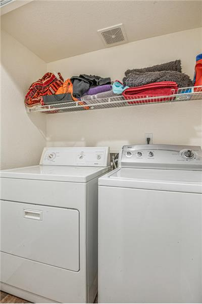 Laundry next to kitchen and garage