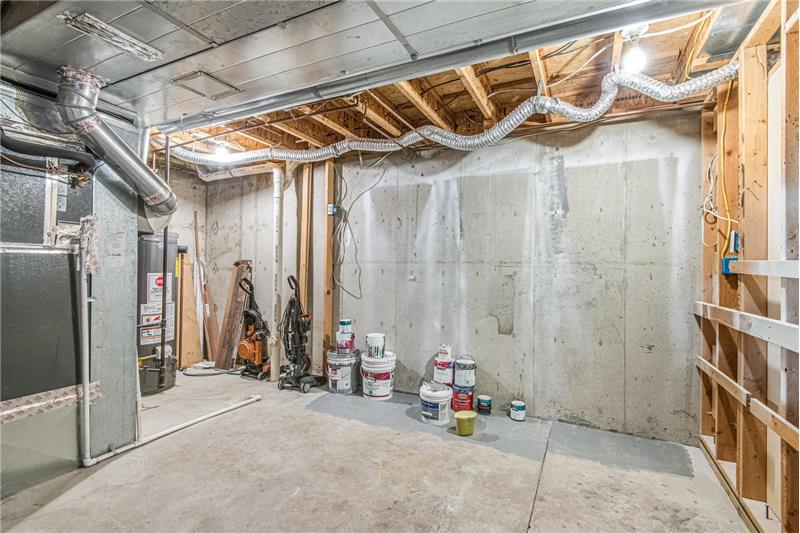 Furnace and storage room