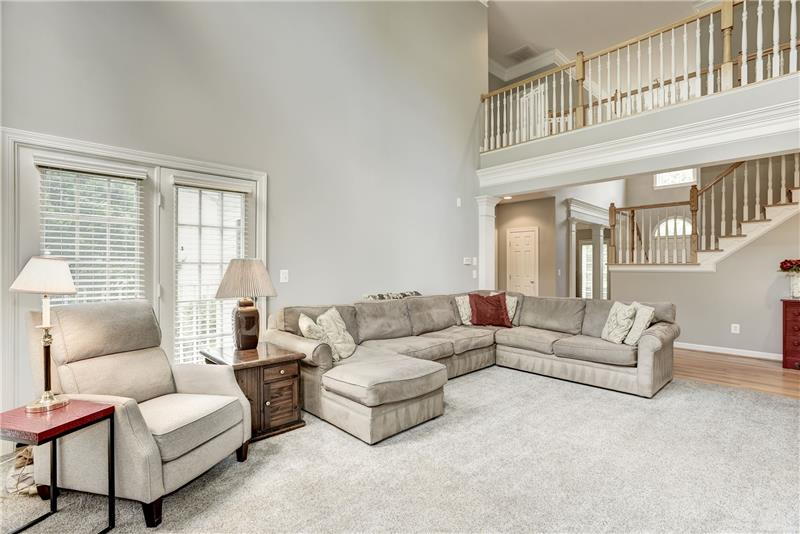 Family Room with Overlook Above