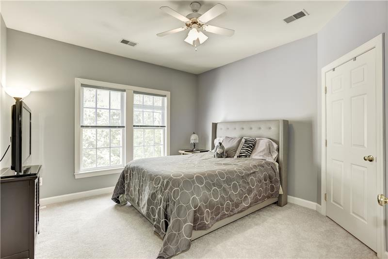 Third Bedroom Shares Full Bath with Fourth Bedroom