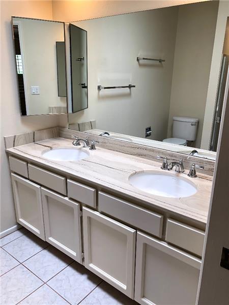 Large dual vanity in Master Bath