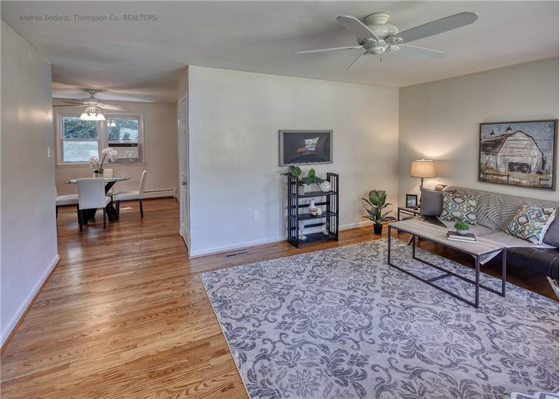 Gorgeous hardwood floors cover almost the entire main level.
