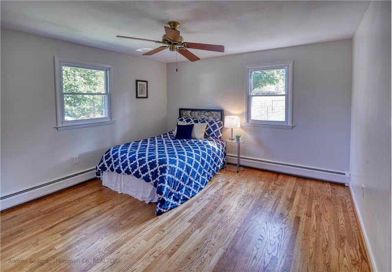 Biggest bedroom comes with a ceiling fan...