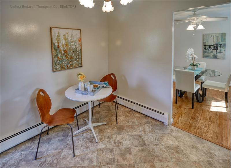 There's also plenty of space for a breakfast table!