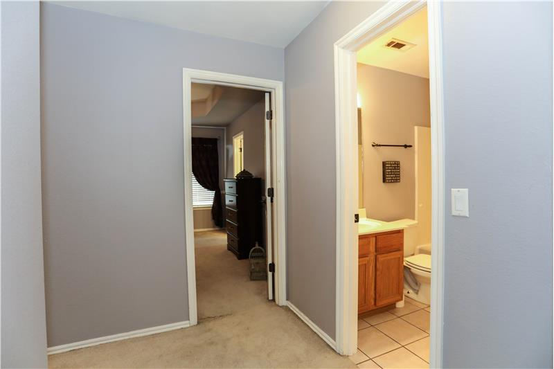 Hallway to Master and Guest Bath