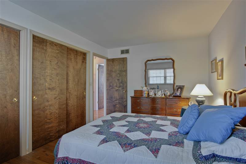 Enjoy two double-door closets along the closet wall in the northeast bedroom.