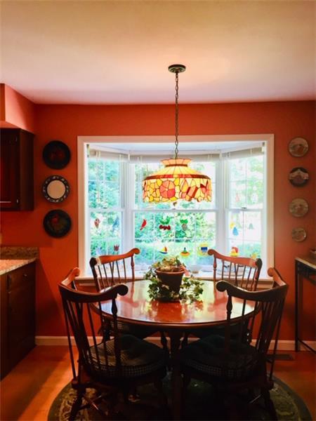 Breakfast nook with a bay window