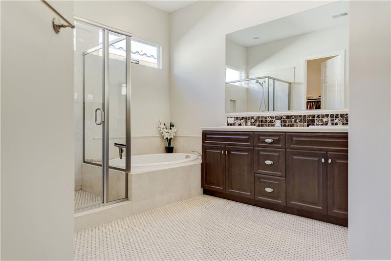 Master bath mosaic tile floor