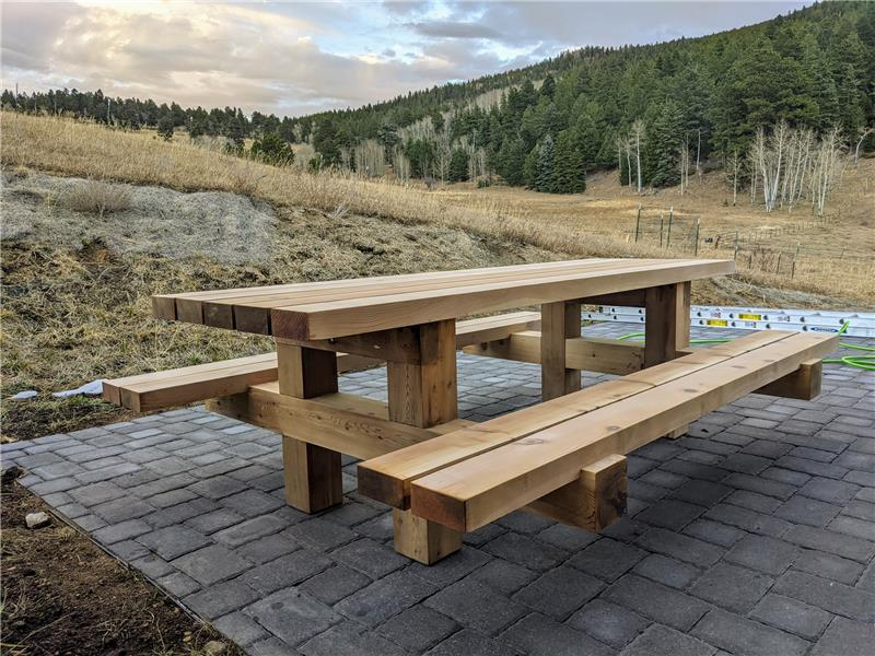 Sorry, this picnic table made by Seller is not included!