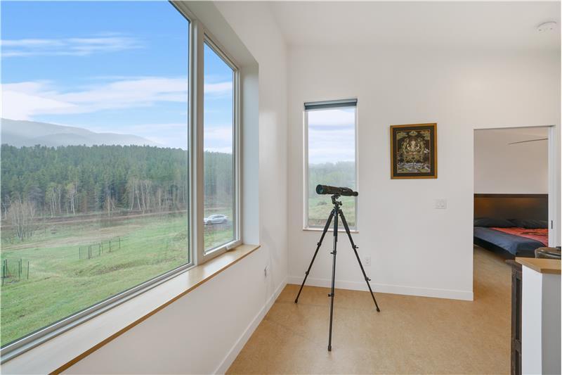 Loft area, like every room, has big window with great views!