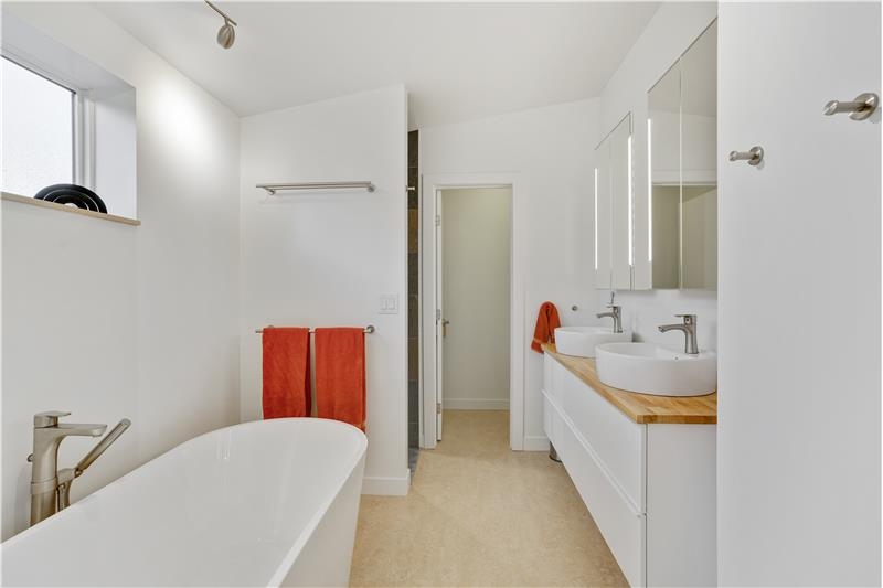 Long view of master bathroom