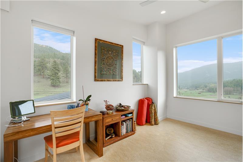 Second upstairs bedroom used as yoga room