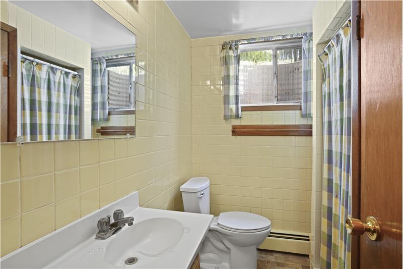 Basement 3/4 bathroom.
