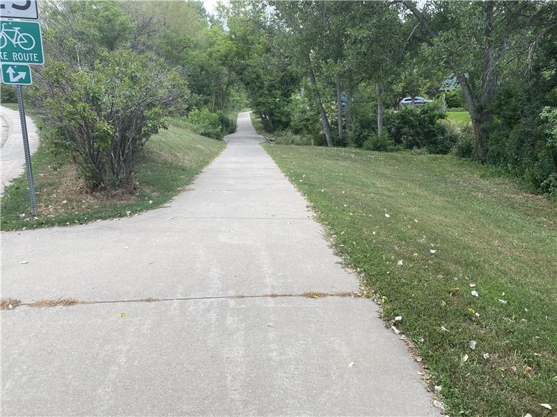 This path to Holbrook Park is just 100 feet west of this home.