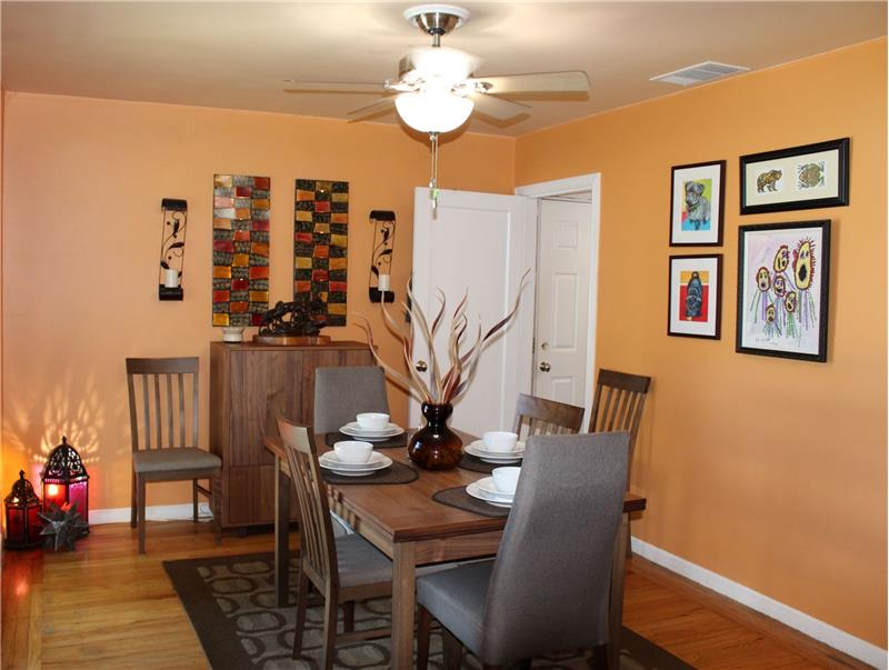 Dining Area with Ceiling Fan