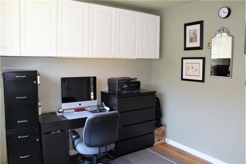 Cabinets Provide Storage Space