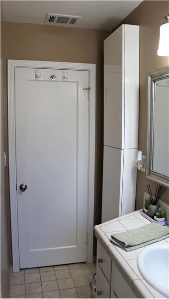 Storage Cabinet Behind Door
