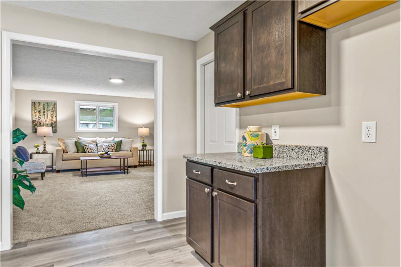 Kitchen open to huge family room