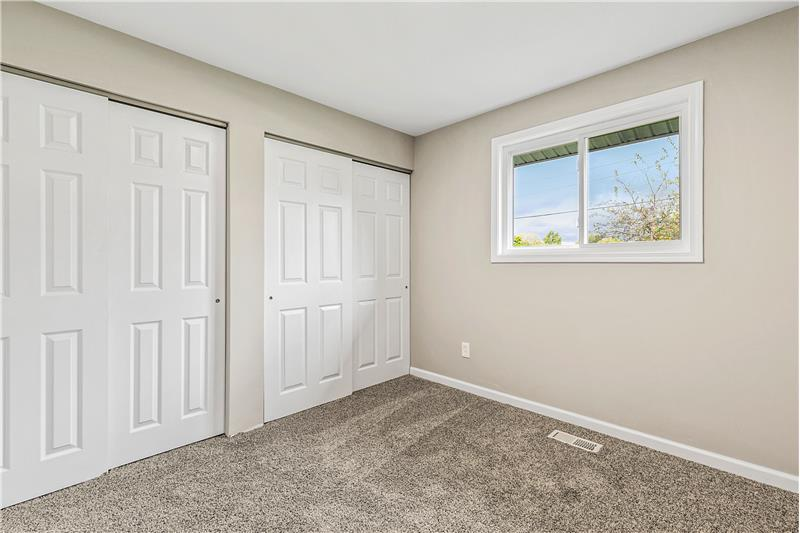 Bedrooms have lots of closet space