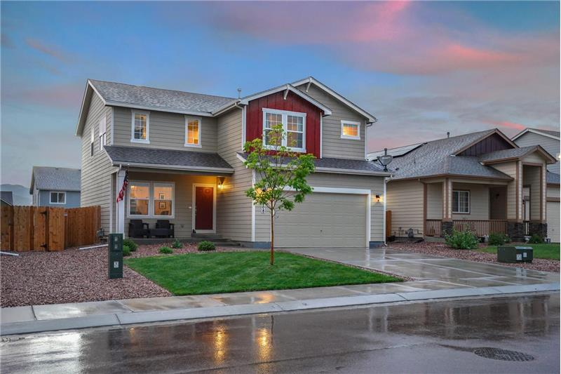 Light and bright 4 Bedroom, 3 Bath, 2-story home in the quiet established neighborhood of The Glen at Widefield